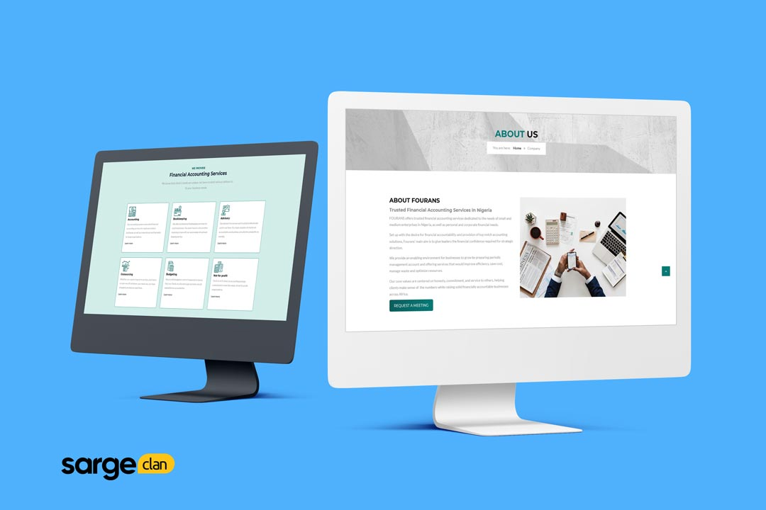 web design case study accounting website